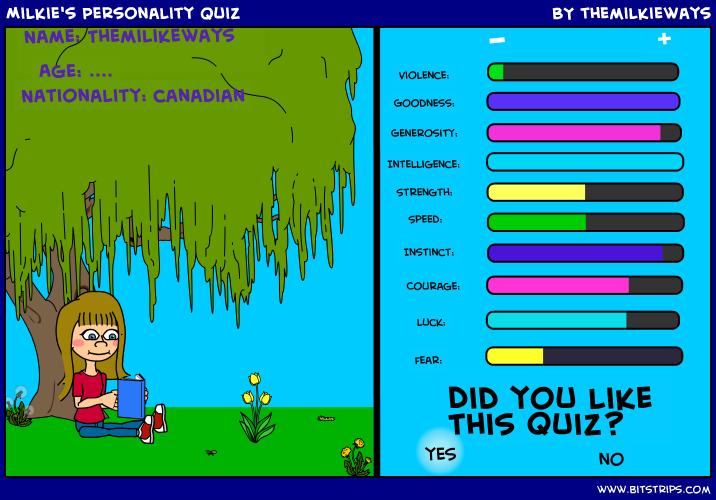 Milkie's Personality Quiz