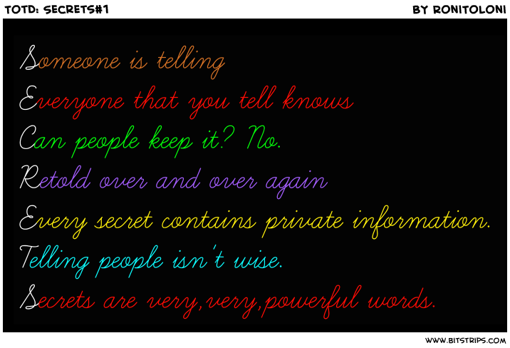 TotD: Secrets#1