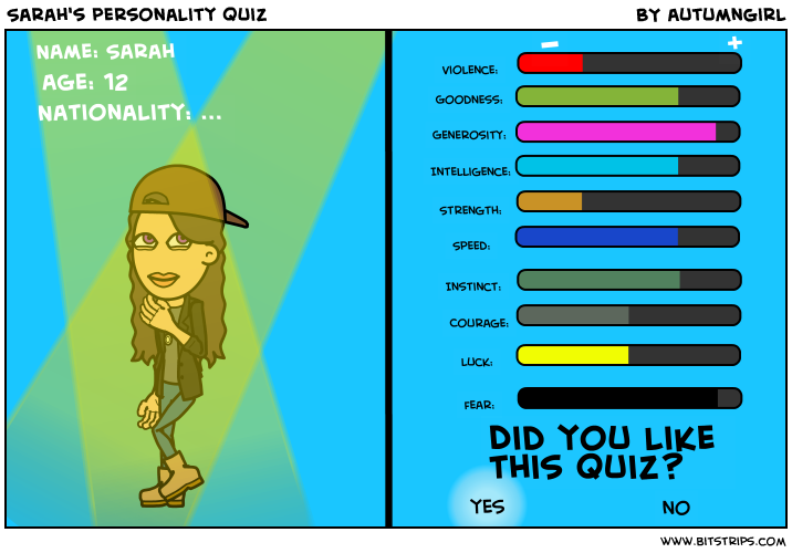 Sarah's personality quiz
