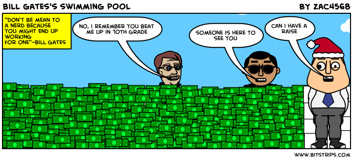 Bill gates 39 s swimming pool bitstrips for Swimmingpool billig