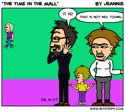 'The time in the mall'
