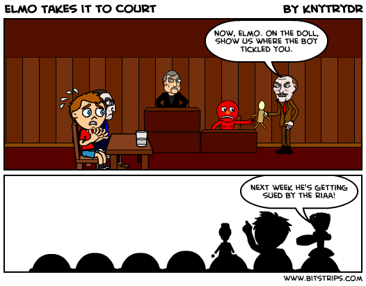 Elmo Takes it to Court