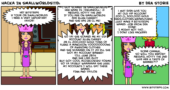 HACKA IN SMALLWORLDS!!!D: - Bitstrips