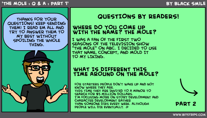 'The Mole : Q & A : Part 1
