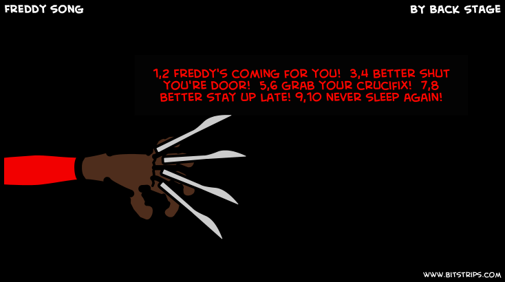 Freddy s coming for you 3 4 better shut you re door 5 6 grab your