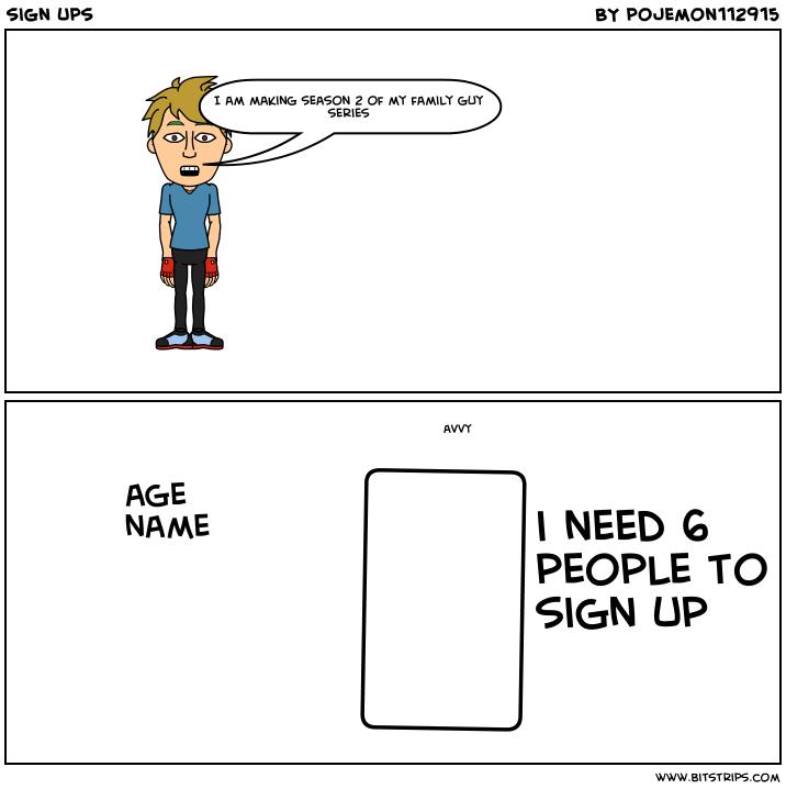 sign ups