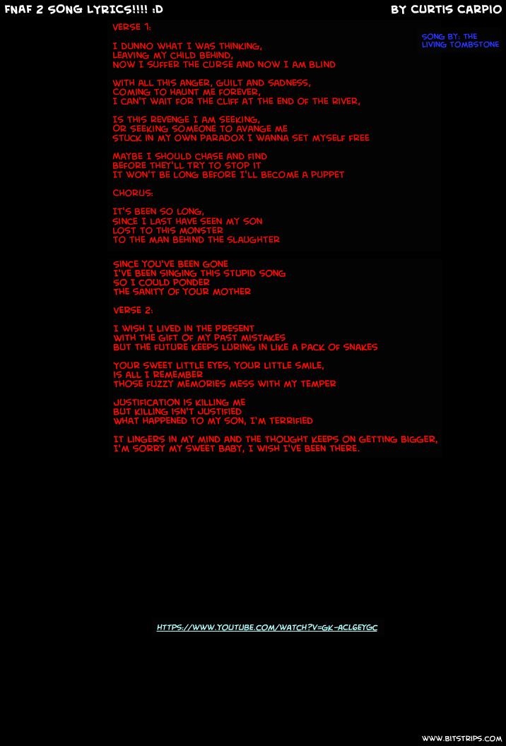 fnaf 2 song lyrics d bitstrips click for details fnaf song lyrics by