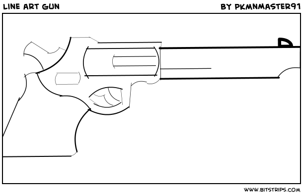 Line Art Gun : Line art gun bitstrips