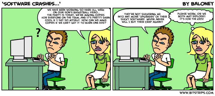 'Software crashes...'