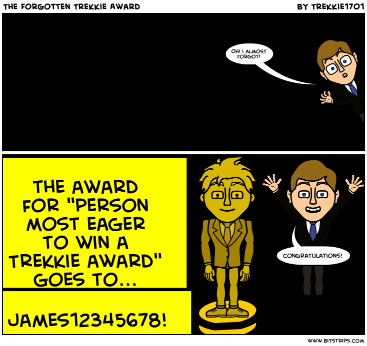 The Forgotten Trekkie Award