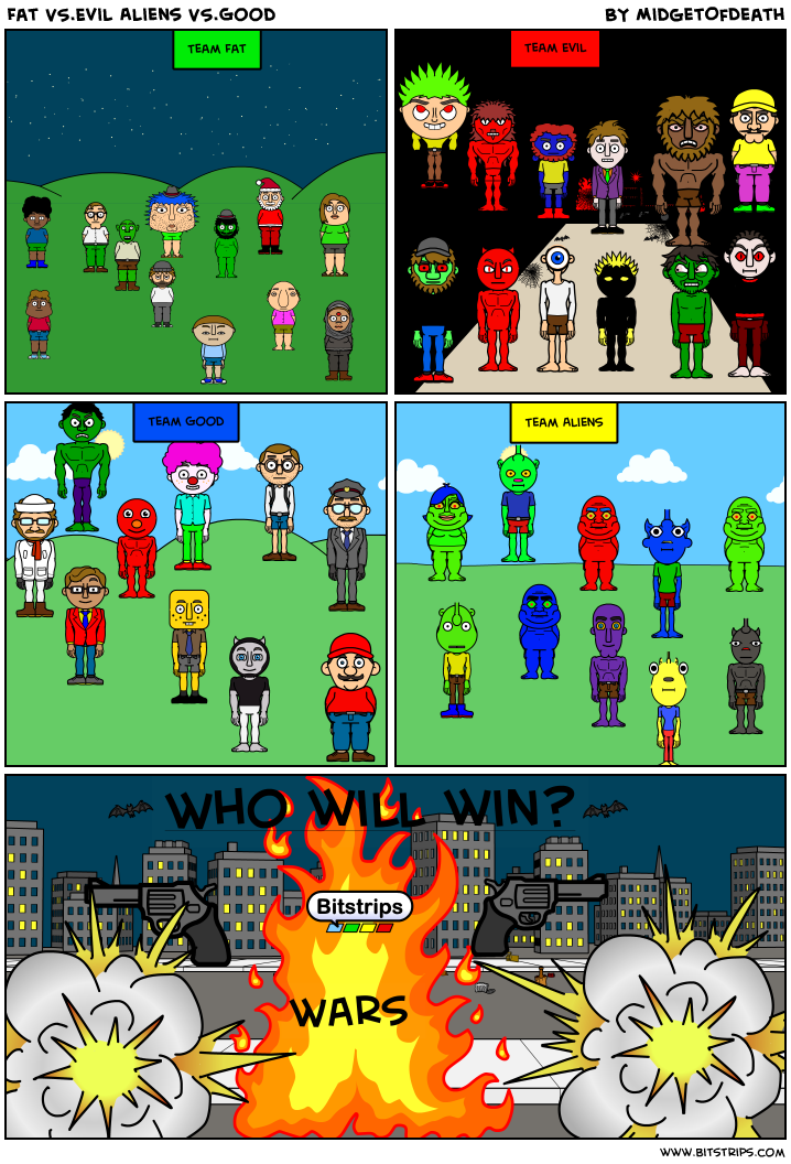 Fat VS.Evil Aliens VS.Good