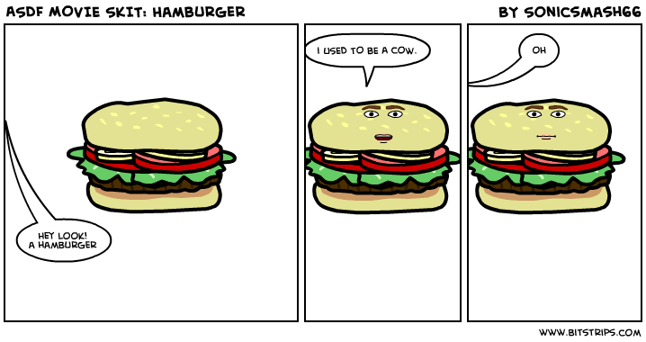 Comic strip hamburger