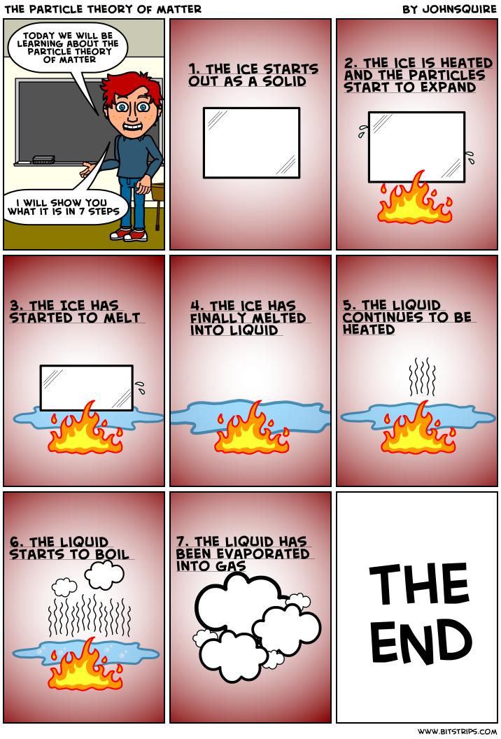 comic strip about matter