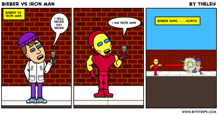 bieber vs iron man