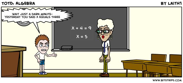 TotD: Algebra