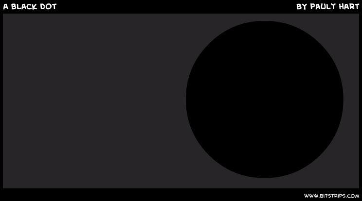 a black dot