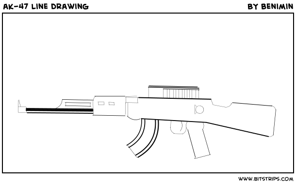 ak-47 line drawing