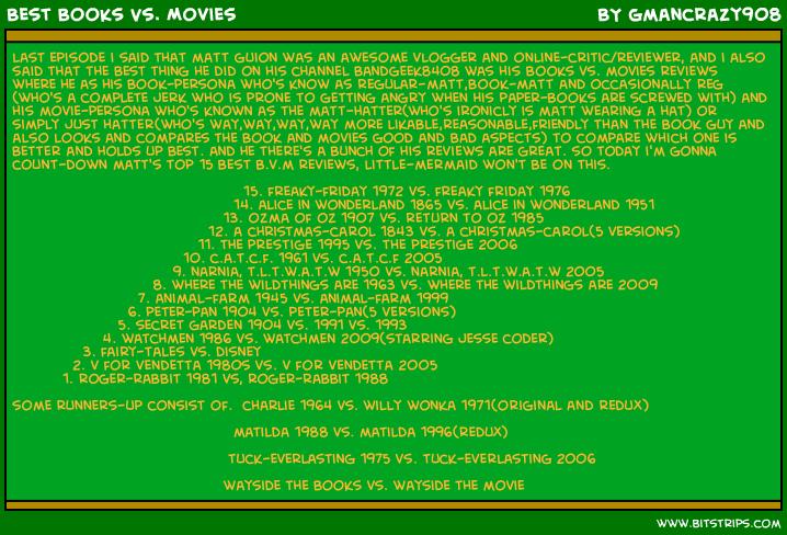 Best Books Vs. Movies