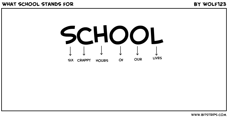 what school stands for - Bitstrips
