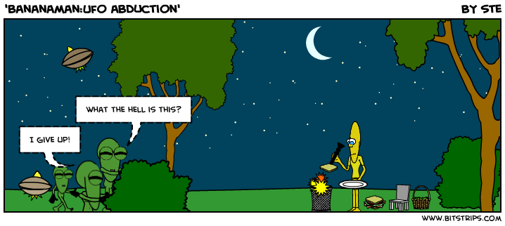 'bananaman:Ufo abduction'