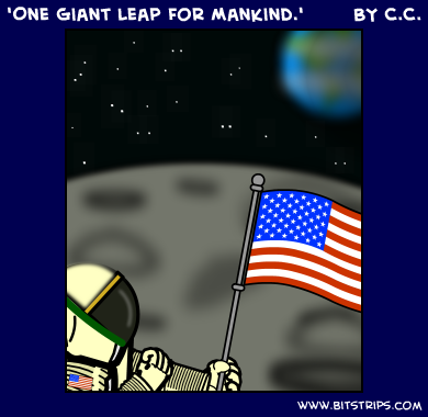 'One Giant Leap For Mankind.'