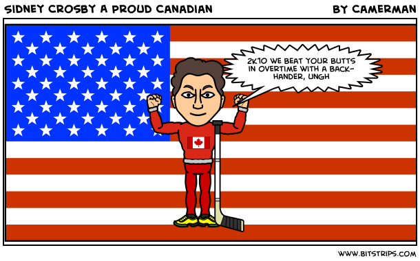 Sidney crosby a proud canadian bitstrips