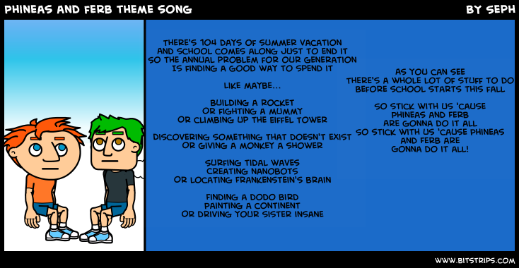 Phineas And Ferb Theme Song Lyrics Lyricsmodecom Induced Info