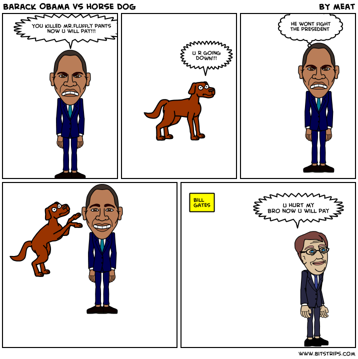 Barack Obama vs horse dog  