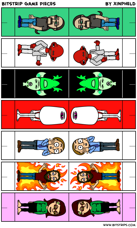 Bitstrip Game Pieces