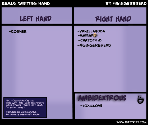 Remix: Writing Hand
