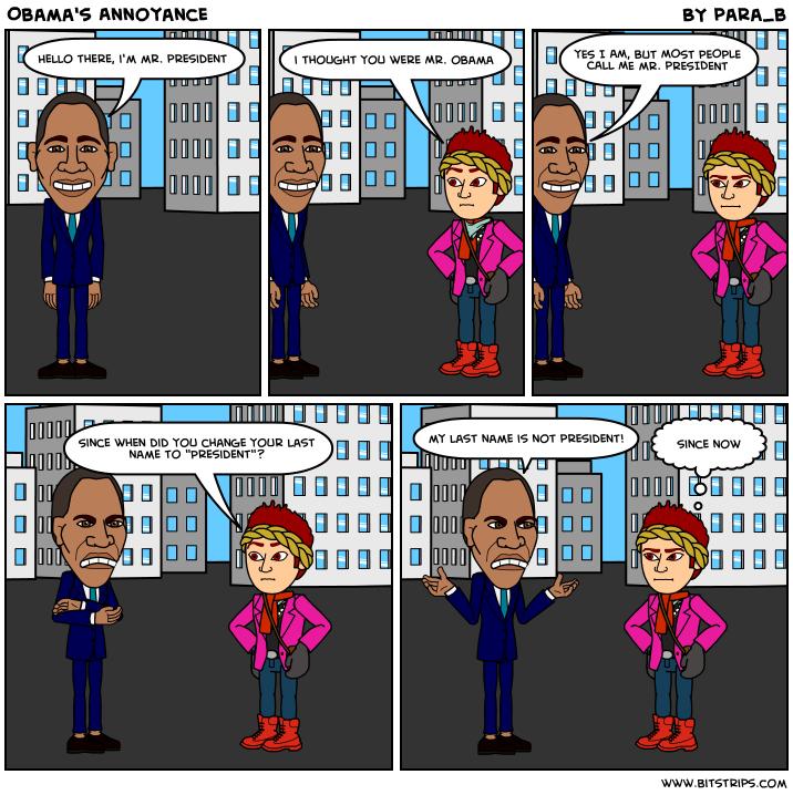 Obama's Annoyance