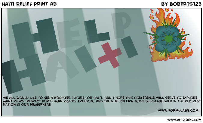 Haiti Relief Print Ad