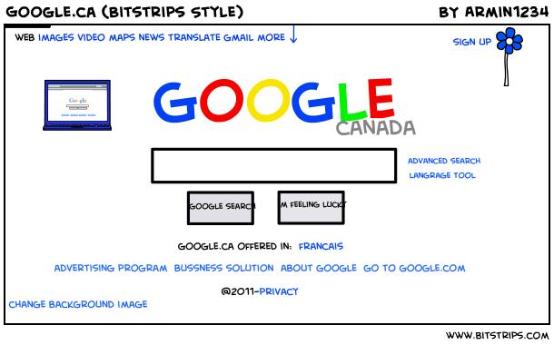 Google.ca (Bitstrips Style)