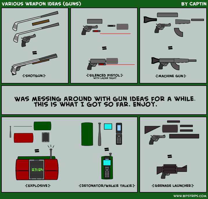 Various weapon ideas (guns)