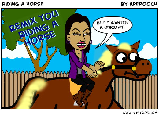 Riding a horse