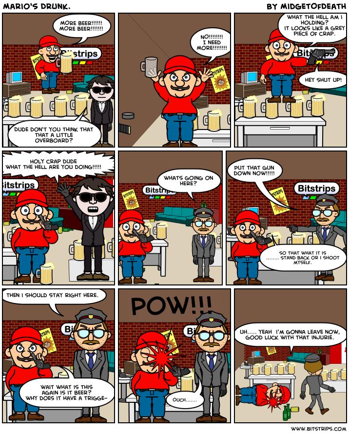 Mario's Drunk.
