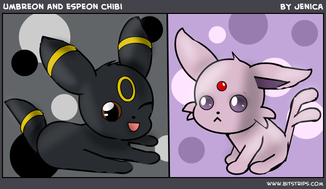 umbreon and espeon chibi