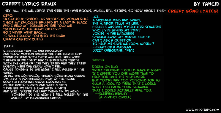 Creepy Lyrics Remix