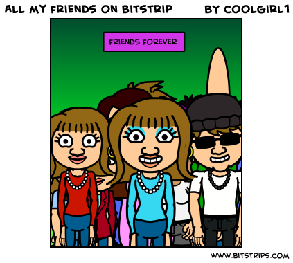 All my friends on bitstrip
