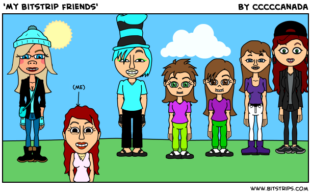 'My bitstrip friends'