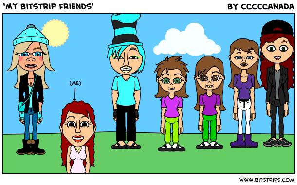 'My bitstrip friends'