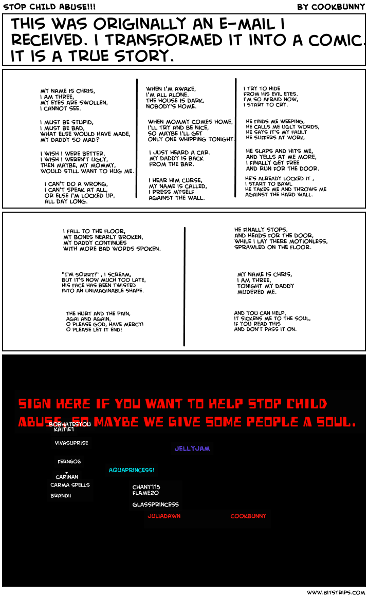 STOP CHILD ABUSE!!!