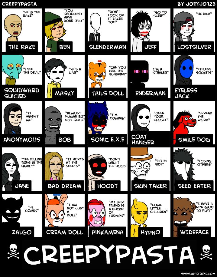 creepypasta characters creepypasta characters creepypasta characters    Creepypasta Character Profiles
