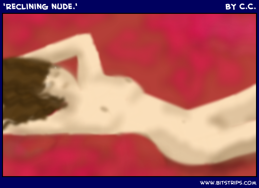 'Reclining nude.'