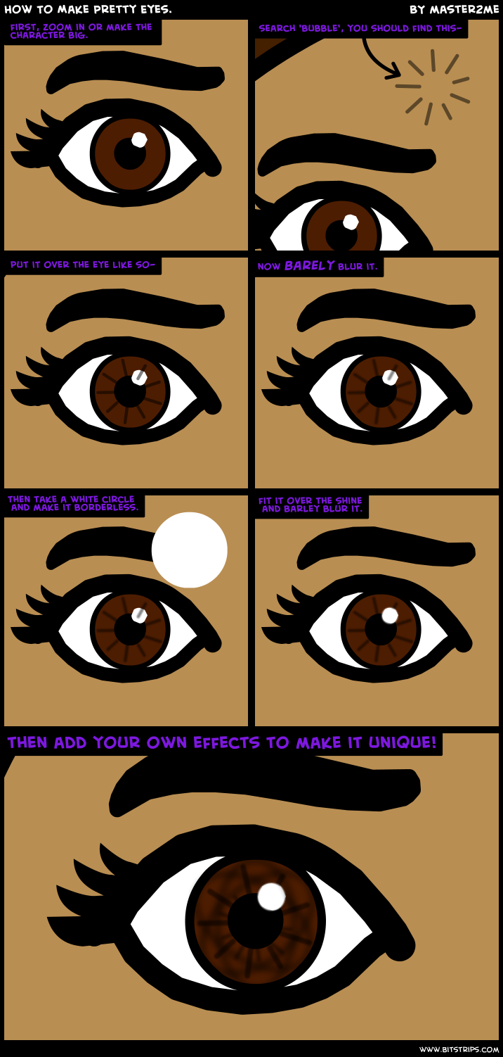 How To Make Pretty Eyes.