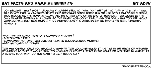 Bat Facts and Vampire Benefits