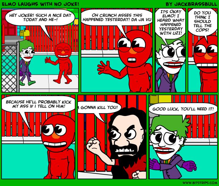 Elmo Laughs With No Joke!