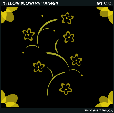 'Yellow flowers' Design.