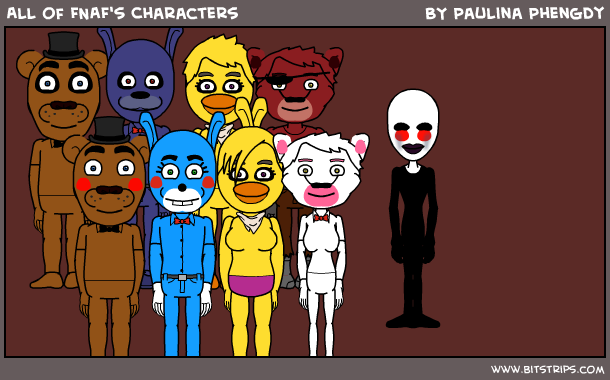 All of fnaf s characters bitstrips