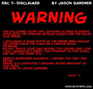 Arc 1- Disclaimer